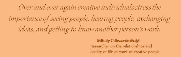 Quote by Mihaly Csikszentmihalyi about creative people